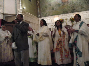 One of the Eritrean churches worshiping at Faith